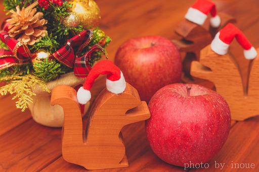ナッツ君とリンゴ1.jpg